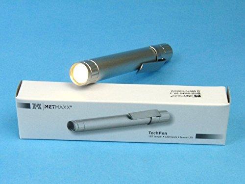 Metmaxx TechPenMedical (Diagnostikleuchte, LED) (Silber), hell, fokusiert, Penlight, Medizinleuchte, Minitaschenlampe, Metall, 11cm