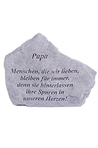 Gedenkstein Papa... aus Steinguss 18 x 14 cm Grabschmuck