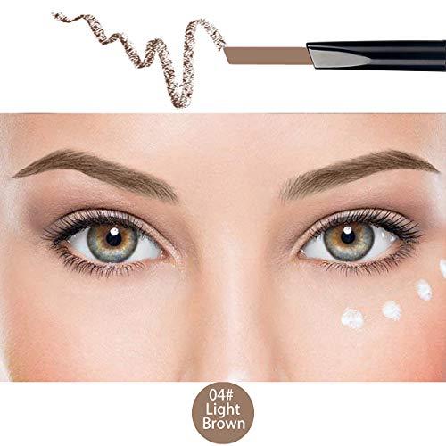 ANIFER Wasserdicht Hellbraun Augenbrauenstift Automatische Einziehbare Langlebige Augenbrauenstift Kamm Pinsel Make-Up Kosmetik Werkzeug (hellbraun/Light brown # 4)