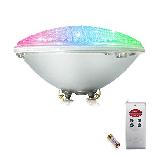 COOLWEST RGB Schwimmbadleuchten 18W PAR56 LED Poolbeleuchtung Einhänge Unterwasser ersatz 150W Halogen Scheinwerfer DC/AC 12V