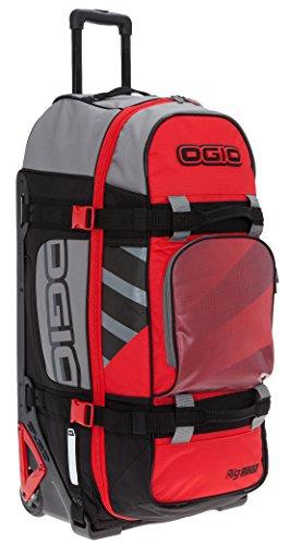 OGIO Reisetrolley Reisetasche mit Rollen Tauchtasche Rig 9800 + TSA Schloß (Red Hub 958)