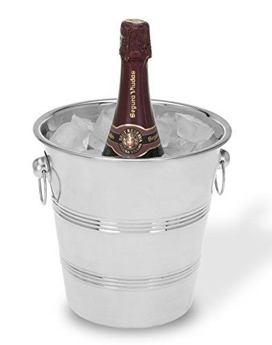 Viscio Trading 171429 Eiskübel für Champagner, aus Edelstahl, 22cm