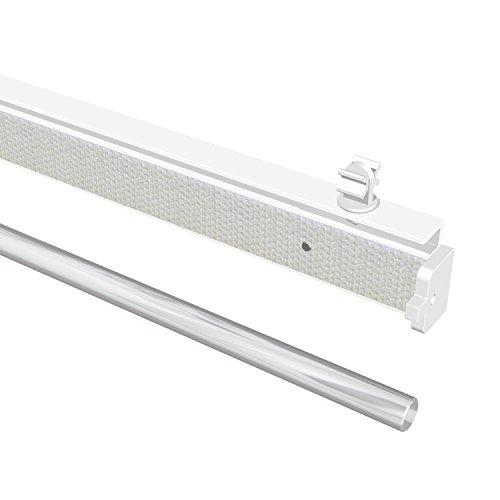 Flairdeco Paneelwagen mit Klettband, Aluminium, Weiß, 60 cm, 6 Stück