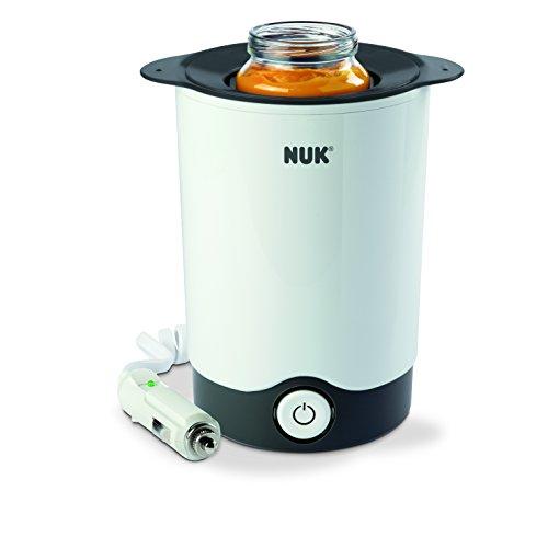 NUK Thermo Express Plus Flaschenwärmer, schnelles und schonendes Erwärmen in nur 90 Sekunden, für zuhause und unterwegs, inkl. Autoadapter-Kabel
