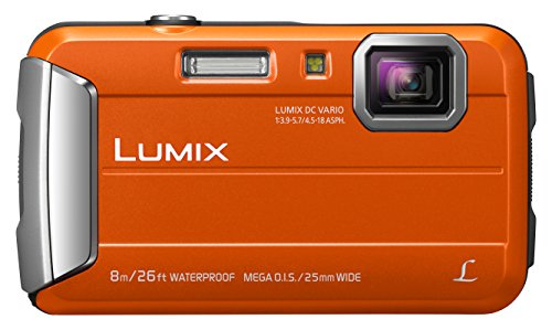 Panasonic LUMIX DMC-FT30EG-D Outdoor Kamera (16,1 Megapixel, 4x opt. Zoom, 2,6 Zoll LCD-Display, wasserdicht bis 8 m, 220 MB interne Speicher, USB) orange
