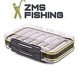 ZMS FISHING GERMANY -Doppelseitige KöderBox - Ideal für Spoons, Fliegen, Haken und Gummifisch - praktisch und handlich zu transportieren.