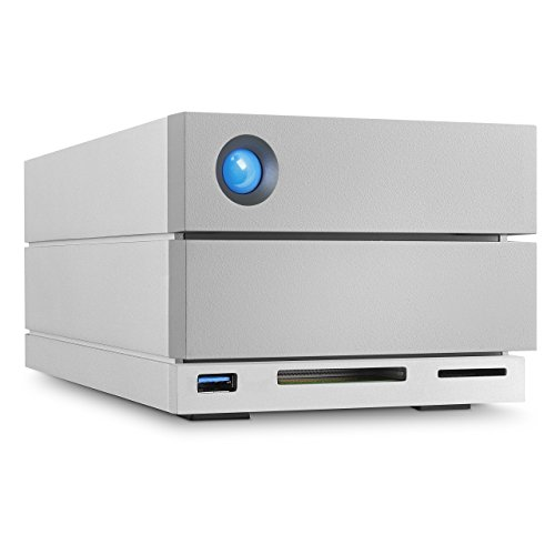 LaCie 2big Dock 8 TB externe Festplatte (Raid 0 und Raid 1, 2x Thunderbolt, USB 3.0, USB Hub, Cardreader)