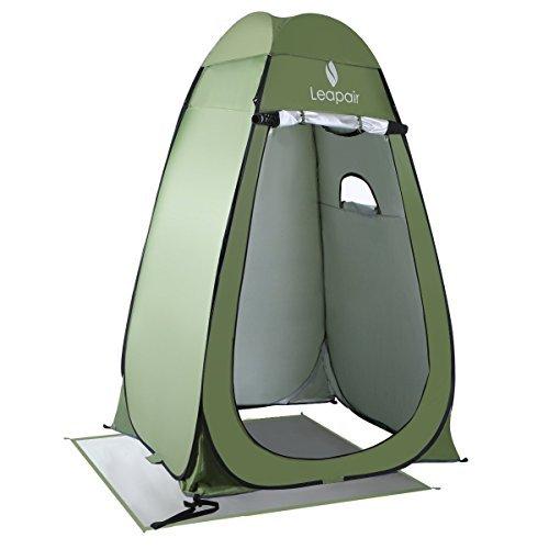 WolfWise Pop up Umkleidezelt Toilettenzelt, Strand Duschzelt Outdoor Privatsphäre Zelte, Camping Lagerzelt Kabine mit Ablagefach, Wasserfest Tragbar, Grün