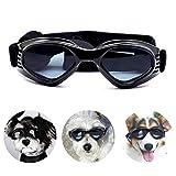 PEDOMUS Hunde Sonnenbrille Verstellbarer Riemen für UV-Sonnenbrillen Wasserdichter Schutz für kleine und mittlere Hunde
