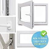 Kellerfenster - Kunststoff - Fenster - weiß - BxH: 75 x 55 cm - DIN rechts - 3-fach-Verglasung - Lagerware