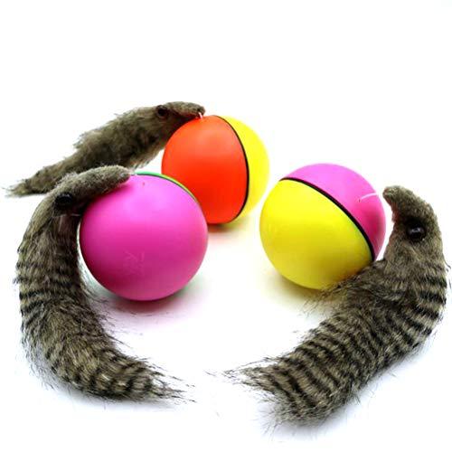 Egosy Lustiger elektrischer Biberball zum Rollen bewegender Baby Kinder Kinder Badespielzeug Katzen Spielzeug zufällige Farbe