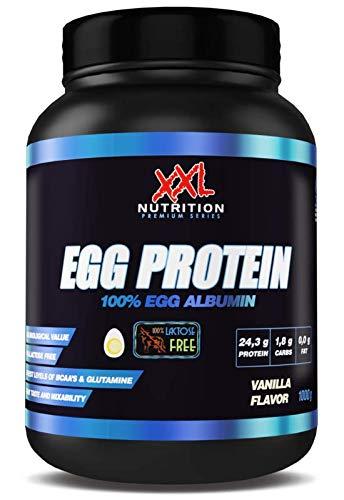 XXL Nutrition Egg Protein | Ei Eiweiß Fettfrei - Nur 0,2 Gramm Zucker | 1000g (Neutral)
