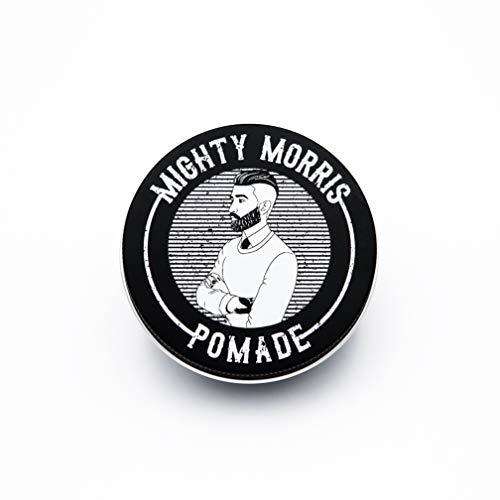 Mighty Morris Strong Hold Pomade - 100% natürliche Inhaltsstoffe - Maskuliner, holziger Duft - Matter Look