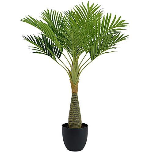 INtrenDU Künstliche Dekopalme im Topf 80cm Kunstpflanze Kunstpalme Dekoration Kunstbaum