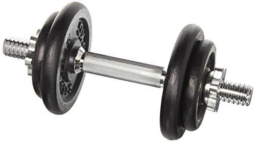 Scsports 10 kg Hantelset, 1x Kurzhantel Chrom, mit Sternverschlüssen und 4 Hantelscheiben (2x 2,5 kg, 2x 1,25 kg), Gewichte aus Guss