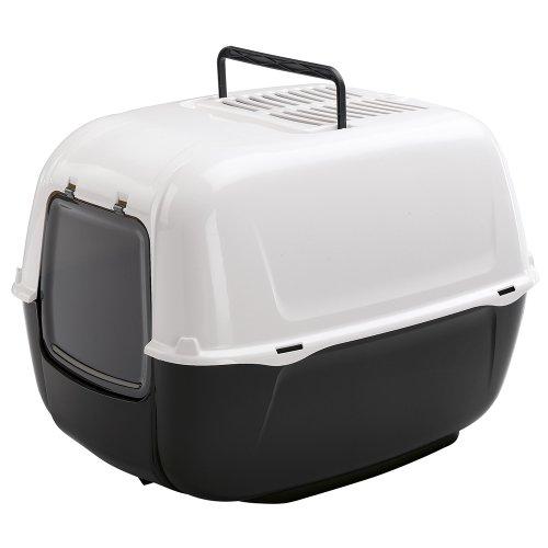 Ferplast Katzentoilette Prima mit Haube / Hochwertige Haubentoilette aus Kunststoff mit Tragegriff und Aktivkohlefilter zur Geruchsbekämpfung / Maße: 52,5 x 39,5 x 38 cm
