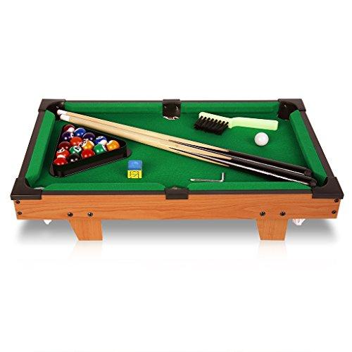 Virhuck 20 ' Tischbillard Kinder Mini, Tisch Spiel Billard Tisch Set, 51,5 x 32cm, mit Bällen, Cus, Kreide, Rack, Tisch Top Pool für Kinder Indoor und Outdoor