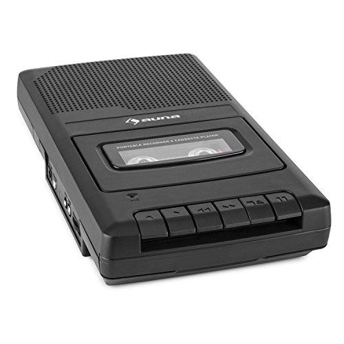 auna RQ-132 • Kassettenrekorder • Tonbandgerät • Diktiergerät • Tape Recorder • verbauter Lautsprecher • automatische Abschaltung • Mikrofon- und Kopfhöreranschluss • Netz- und Batteriebetrieb • ausziehbarer Tragehenkel • portabel • schwarz