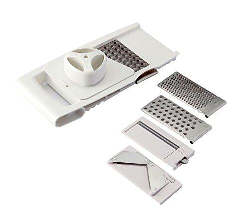 Leifheit Allzweckreibe 4+1 Comfortline, Küchenreibe, Küchenhelfer, Weiß, 31,2 cm, 23170