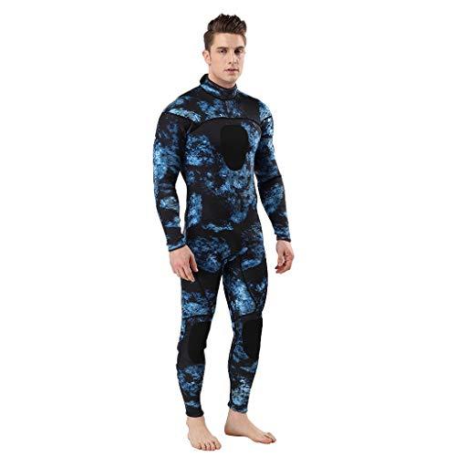 LOPILY Herren Mode Neoprenanzug Surfbekleidung 3MM Ganzkörperanzug Schwimmanzug Tauchanzug Schwimmen Surfen Tauchen Sport Badeanzug Wetsuit Schnelltrocknend(Dunkelblau,M)