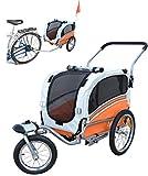 Papilioshop Argo Hundeanhänger hundewagen fahrradanhänger für Hunde S-M-L (Orange small)
