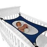 FOONEE Baby-Hängematte für Kinderbett, verstellbares, bequemes Sicherheitsschlafsofa Starke dauerhafte Kinderbett-Wiegen für Kleinkinder, doppelte atmungsaktive Netze Mimics Womb-Pink, Blau, Grau