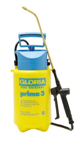Gloria Drucksprüher Drucksprühgerät Prima 3 Liter mit Sichtstreifen und Messingdüse bzw. Langze, gelb