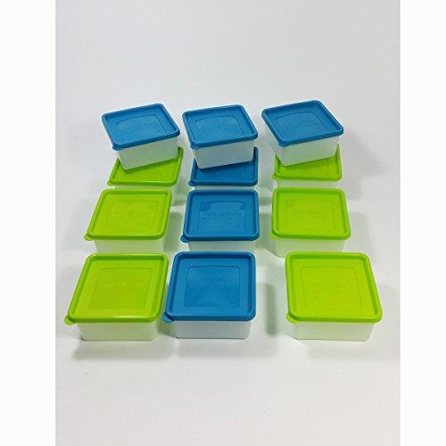 12 Stück Tiefkühldosen 0,5 Liter -40 °C bis +95 °C inkl. Gefrieretiketten