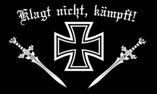 U24 Fahne Flagge Eisernes Kreuz Klagt nicht kämpft! Deutsches Reich 90 x 150 cm