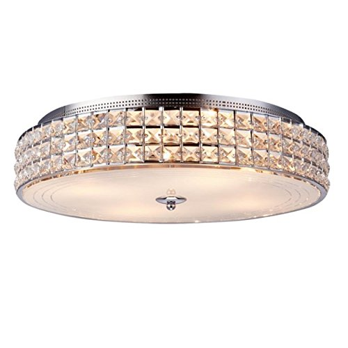 Maxmer Led Kristall Deckenleuchte Rund Deckenlampe Moderne Kristallkronleuchter mit Sternenhimmel Effekt E14 geeignet für Wohnzimmer, Esszimmer, Schlafzimmer, Hotelzimmer, Restaurantusw, Bar usw.
