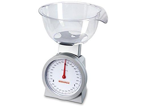 Soehnle 65041 Analoge Küchenwaage Actuell silber/glasklar