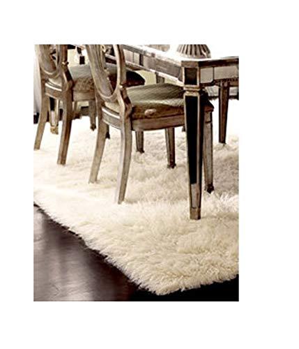 Premium Shaggy Flokati Griechische Teppiche Elfenbein Farbe, von Rugs & Stuff–2000GSM–Viele Verschiedenen Größen, Wolle, Beige, 140 x 200cm