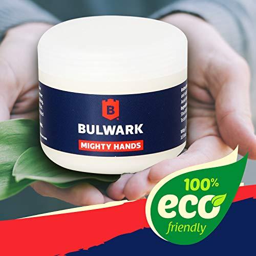 Hautpflege für hart arbeitende Hände - Mighty Hands von Bulwark 100% natürliche Handcreme für Männer mit beanspruchten Händen mit Sheabutter Vitamin E & Hanföl Intensiv Handcreme