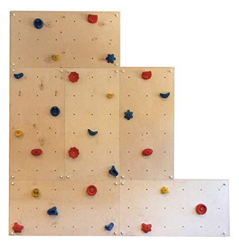 Indoor-Kletterwand IW6 4,32 m² mit 25 Griffen für Kinder und Erwachsene