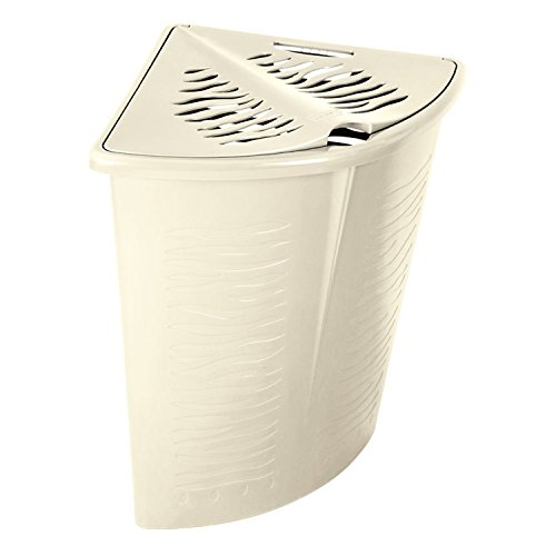 BranQ Eck-Wäschekorb Zebra Zebraoptik Wäschebox Wäschebehälter 45 L (Weiß)