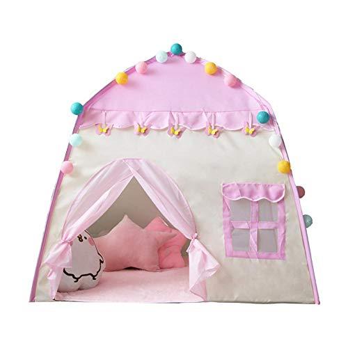 Kinderzelt, Spielzelt Burg Haus Für Mädchen, Im Kinderzimmer, Indoor/innen/außen/draußen, Pop Up, Kinderspielzelt, Kinderzelt Schloß, Rosa Spielhaus Für Mädchen Pop Up Zelt, Geschenk Für Kinder