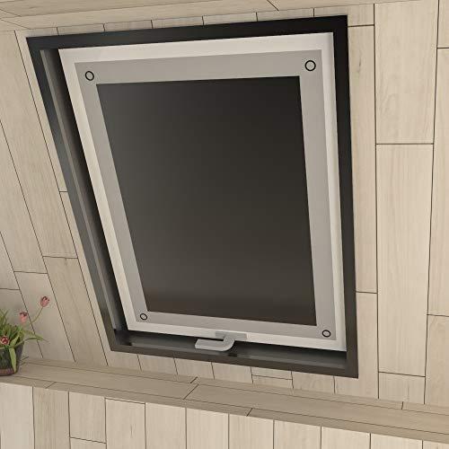Eurohome Sonnenschutz Dachfenster Rollo ohne Bohren Schwarz Verdunkelungsrollo mit Saugnäpfen für Fenster Dachfenster Jalousien 116 x 120 cm