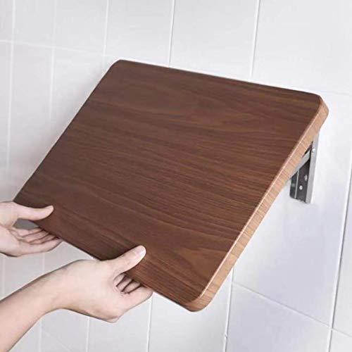 Wghz Klappregal Punschfrei, Küchenwandregal, Wandregal für Badezimmer, Klapptisch, E1 MDF, Edelstahlhalterung (Größe: L70XW38CM)