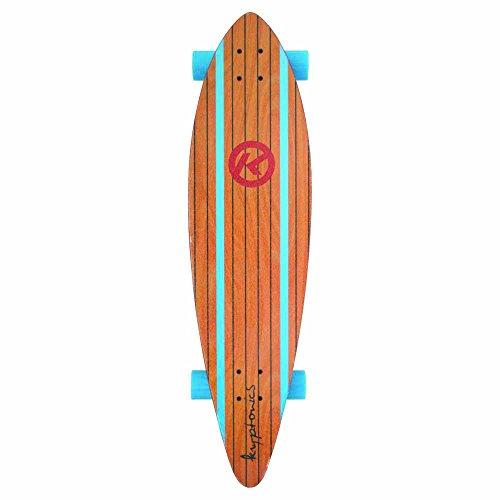 Kryptonics SK13157568 Longboard 37 Zoll Drop-Through Komplettboard mit ABEC 5 Kugellager, Skateboarding - Board Surf City