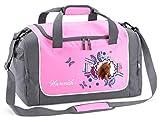 Mein Zwergenland Sporttasche in Rosa mit Namen, 38 L, Pferdekopf 59