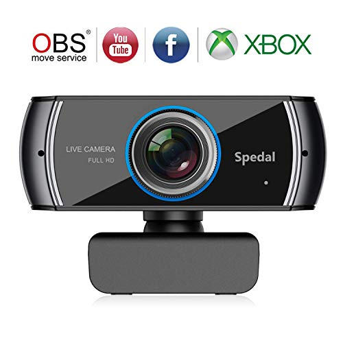 Full HD 1080P Webcam OBS Live Streaming Web Kamera Xbox Youtube H.264 Computer Kamera für Skype Facebook und Twitch,PC Kamera Mac Windows Kompatibel