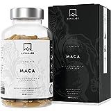 Maca L - Arginin [ 5600 mg ] + Cordyceps, Acerola Extrakt mit Vitamin B6, B12 und Zink pro Tagesdosis - Nordische Reinheit: 100% Vegan - Laborgeprüft - Hergestellt in der EU - 180 Kapseln