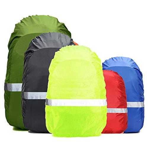 Frelaxy Regenschutz für Rucksack Schulranzen(15-90L), 100% Wasserschutz Rucksack Cover mit Reflektorstreifen, Rutschfester Schnallenriemen, für Wandern, Camping, Radfahren, Reisen (Schwarz, M)