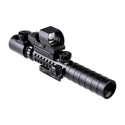 Pinty 3-9x32EG Zielfernrohr Entfernungsmesser Illuminated 4 Absehen Muster Zielfernrohr Luftgewehr Rot Grün Scope Anblick Mil Dot Rangefinder Visor Taktische Scope 3 in 1