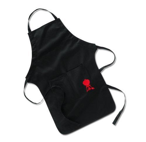 Weber 6474 Grillschürze, schwarz mit rotem Kettle Grill