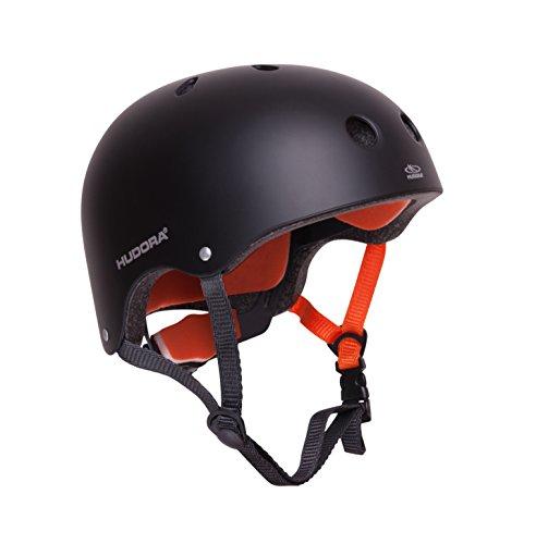 HUDORA 84104 - Skateboard-Helm, Scooter-Helm anthrazit, Gr. 56-60, Skate Helm, Fahrrad-Helm