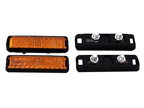 Pedal-Reflektor 4er Set Reflektoren für Pedale Orange mit Muttern und Schrauben für Fahrräder