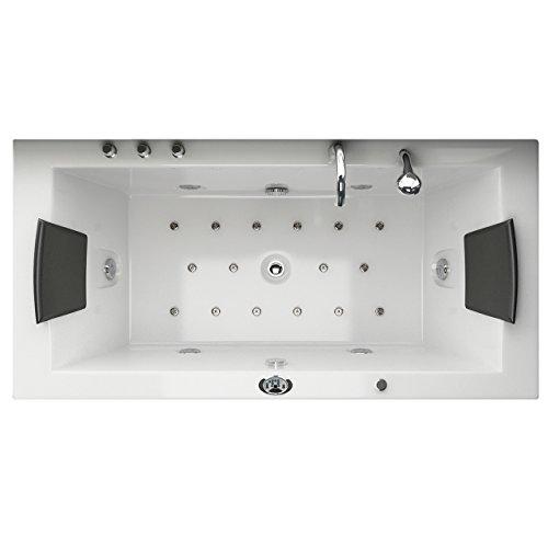 Whirlpool Badewanne Villa Eugenie II LED Sondermodell alle Düsen beleuchtet von Jet-Line Badewanne Luxus Spa