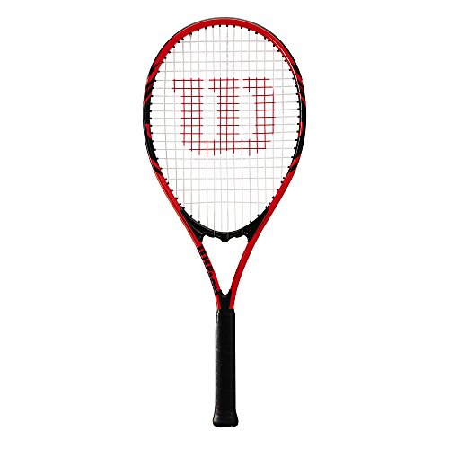 Wilson Damen/Herren-Tennisschläger, Anfänger, Federer, Griffstärke 3, Aluminium, rot/schwarz, WRT30480U3