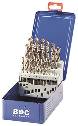 Bohrcraft Spiralbohrer Set HSS-G in Industriekassette  MG13 / Ø 1 - 13 x 0,5 mm / 25-teilig / 1120 13 10025